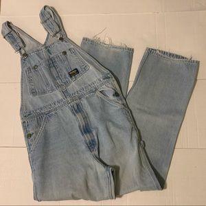 OshKosh Vintage Blue Jean Overalls 32 x 32